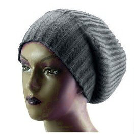 Unisex Knitted Satin Lined Slouch Beanie Grey Red – POSH   HARMONY 27f95be4a7e1